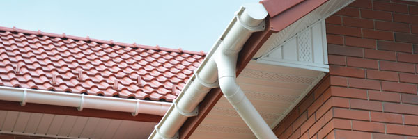 Guttering on new house